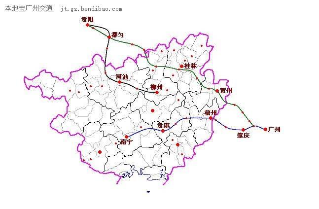 广东肇庆南站地图
