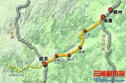 赣韶铁路线路图图片