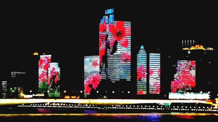 广州珠江北岸24栋建筑动画演绎几点开始?几点结束?