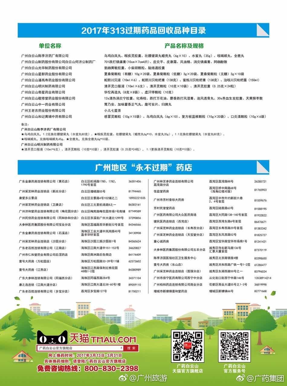 2017广州第一期过期药免费更换活动时间及地点一览