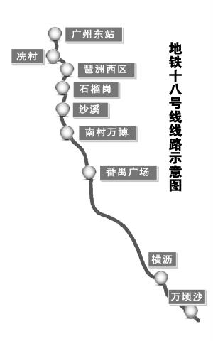 广州18号线最新消息:2017下半年开工2020年底建成通车