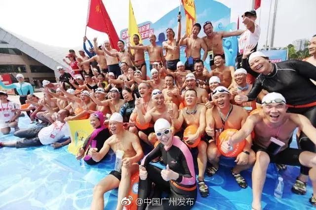 2017年广州横渡珠江精