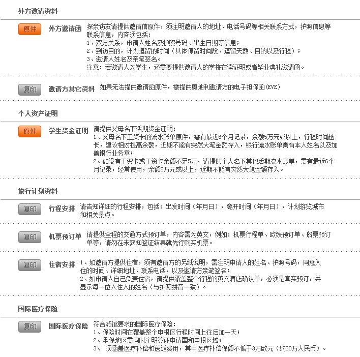 2017年(广州领区)奥地利探亲访友签证办理指南(流程+资料+费用)