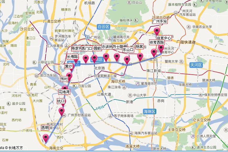 广州地铁线路图高清版(2017年最新)