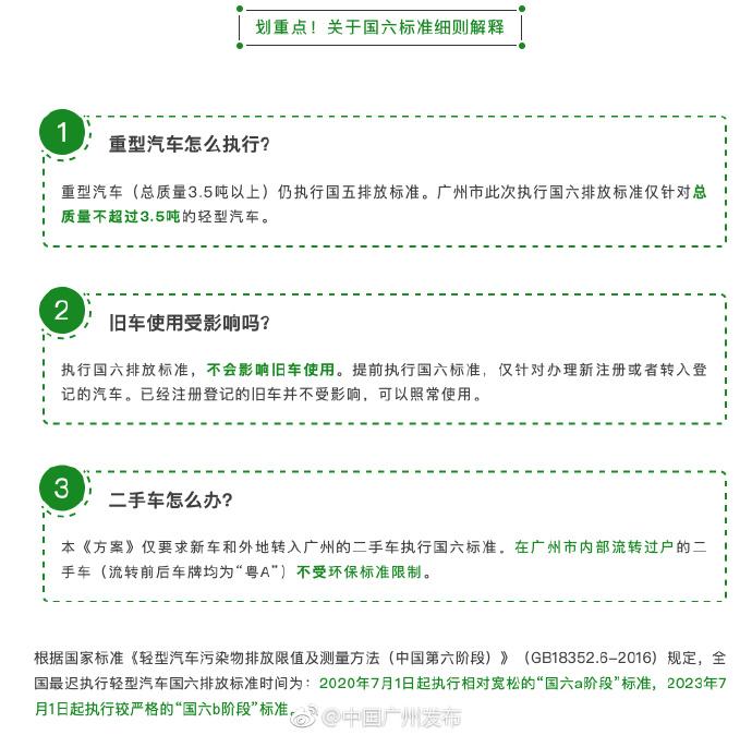 广州国六标准实施时间 预计2019年3月1日起执行