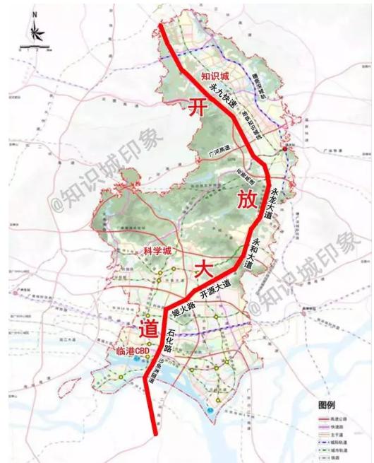 2018广州黄埔区石化南路拟扩宽至10车道