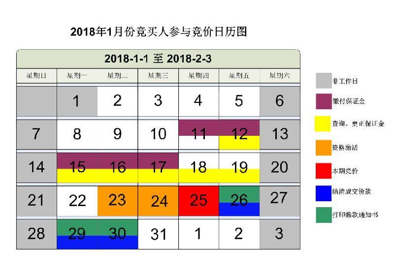 广州车牌竞价日历图(每月更新)