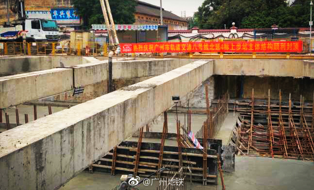2018年5月广州地铁8号线北延段最新进展:土建完成55%