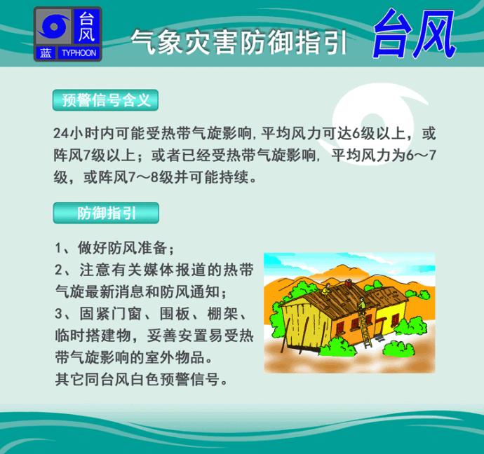 广州蓝色台风预警信号停课吗?