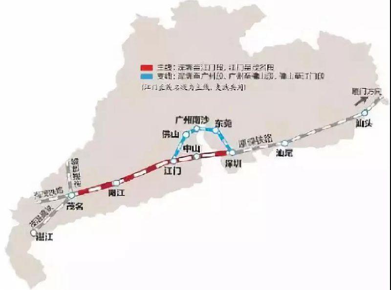 江湛铁路全线共设13个客运站 江湛铁路路线图及站点一览