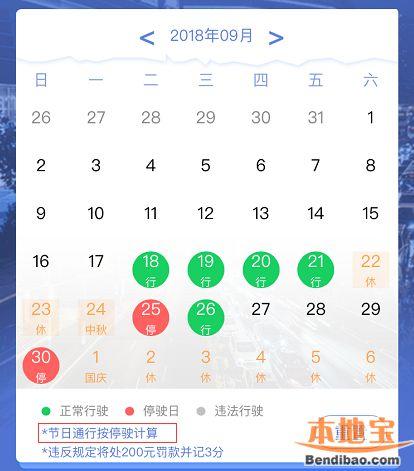 2018广州中秋节限行吗?