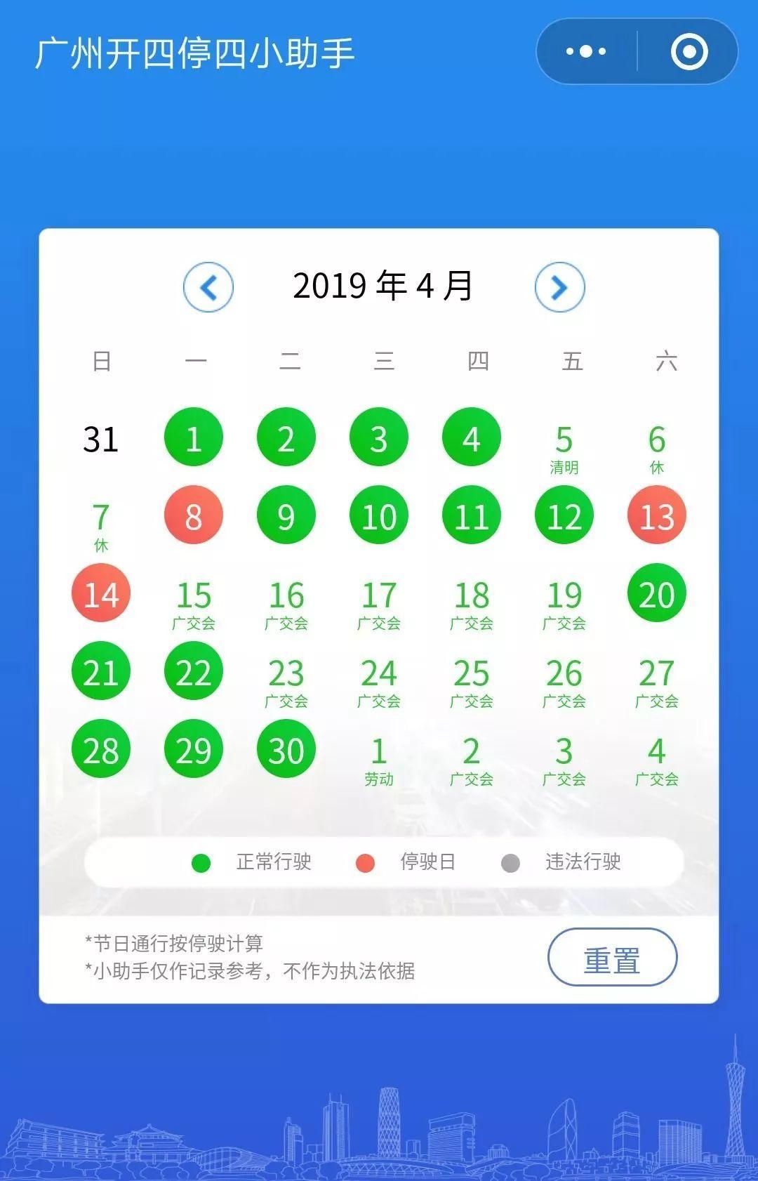 2019年4月广州限行吗?广州4月限行时间一览