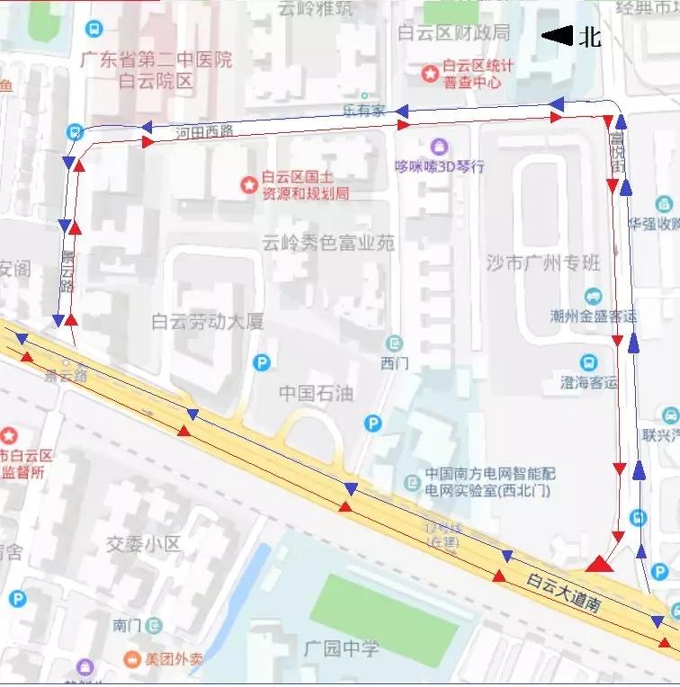 2019年5月18日起广州地铁12号线景云路站围蔽施工