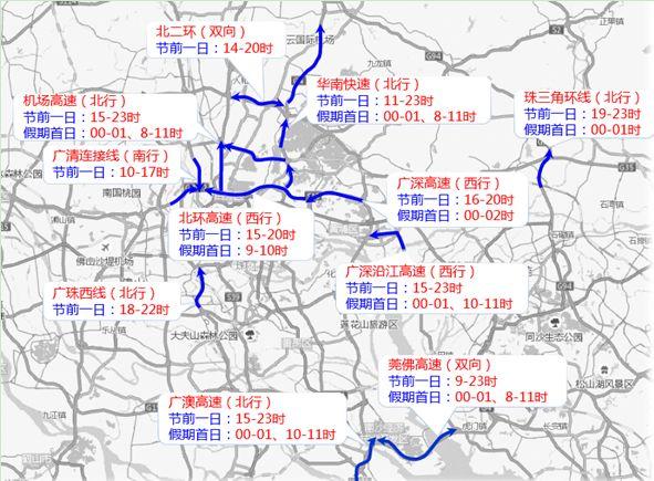 广州2019清明期间出行高峰时间 4日15时至5日凌晨1时