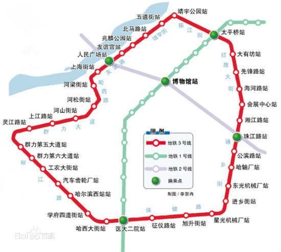 哈尔滨地铁3号线线路图图片