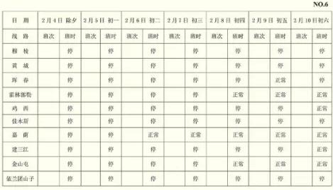 2019哈尔滨哈西客运站春节班次表