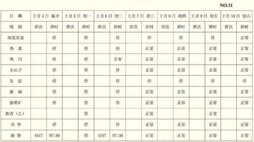 2019哈爾濱道外客運站春節發車時刻表