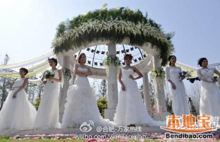 合肥滨湖森林公园举办首场西式户外婚礼图片