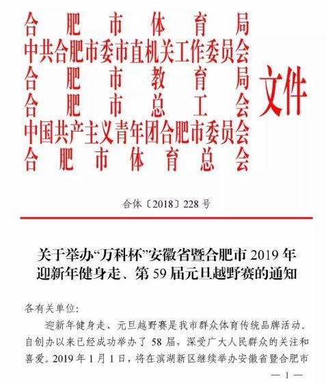 合肥2019迎新年健身走元旦越野赛报名(时间