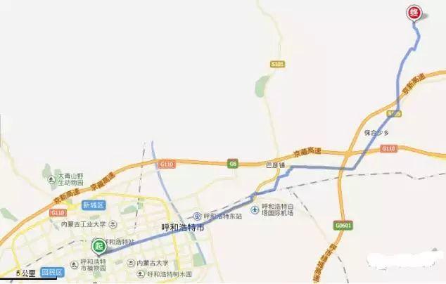 呼和浩特五一周边游(冷门景点+路线图)