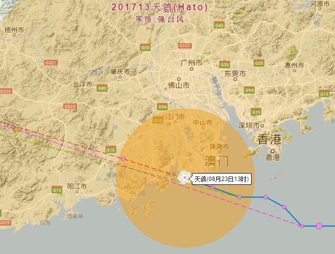 2017惠州台风天鸽最新消息 实时路径图查询图片