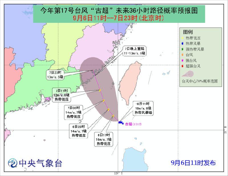 惠州2017年台风古超实时路径(持续更新)