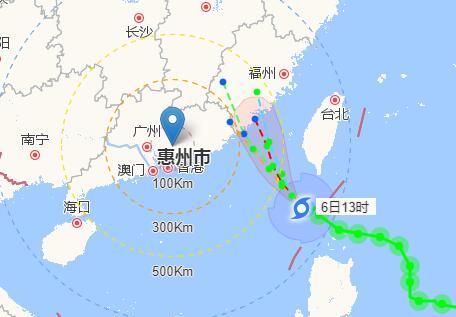2017年惠州17号台风路径图 台风古超实时路径图