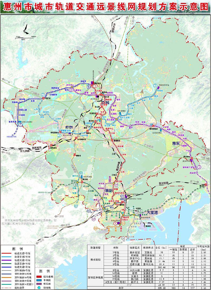 惠州地铁最新规划(附地铁线路规划图)