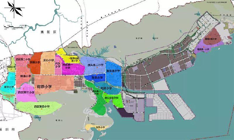 2018惠州大亚湾区小学入学片区划分范围(完整版)