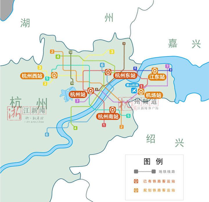 初步设想,是从杭州西站经杭州东站,到萧山机场,全线约50公里,设计