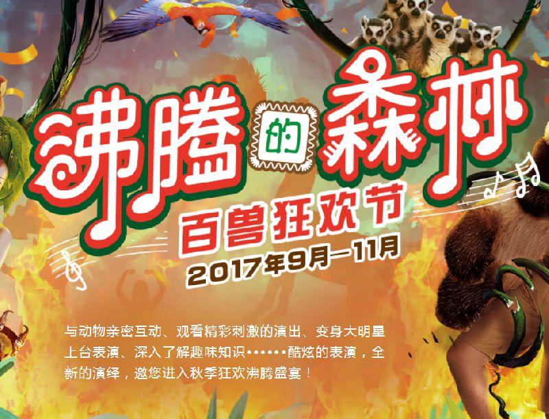 2017国庆杭州野生动物世界旅游攻略 沸腾的森林百兽狂欢节