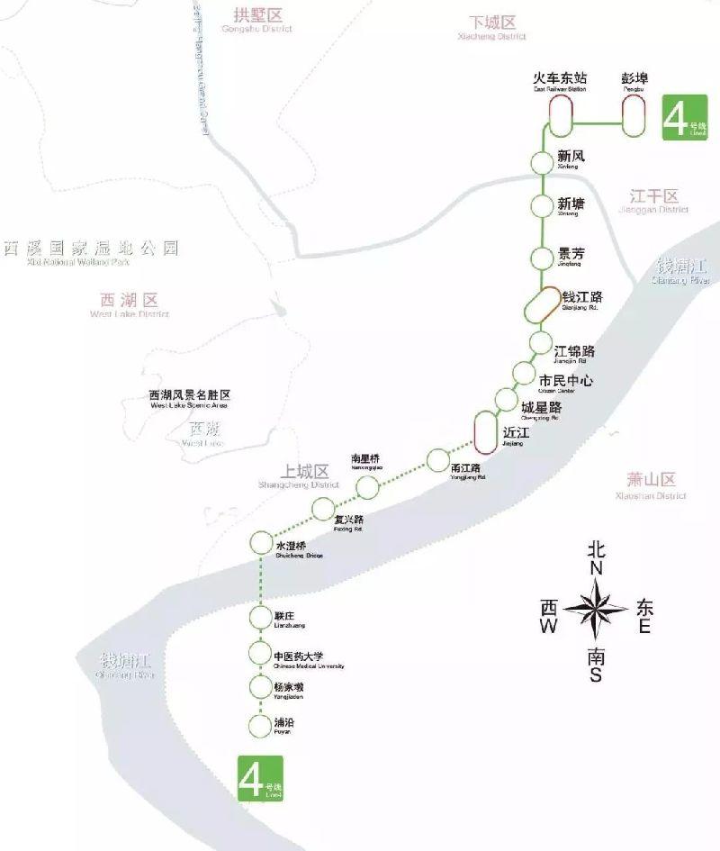 4号线南段线路图