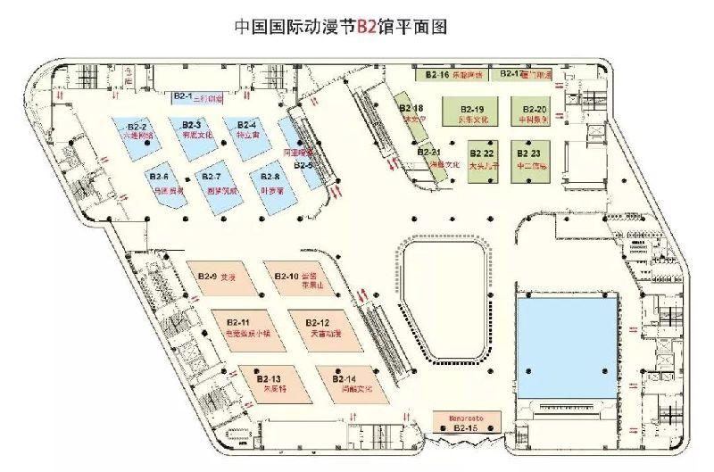 中国国际动漫节B2馆展出介绍(附平面图)