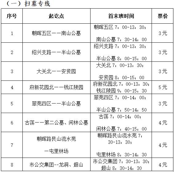 2019杭州清明节扫墓攻略(图)
