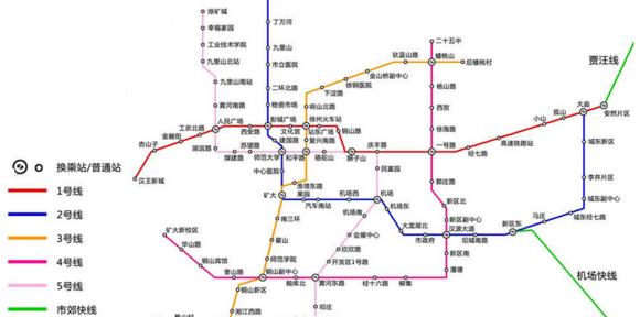 徐州地铁3号线站点分布详情图片