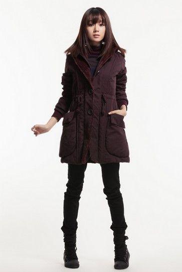 保暖中长棉衣