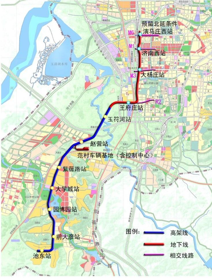 济南地铁R1线规划图