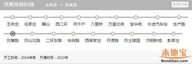 济南地铁R2线站点详细位置