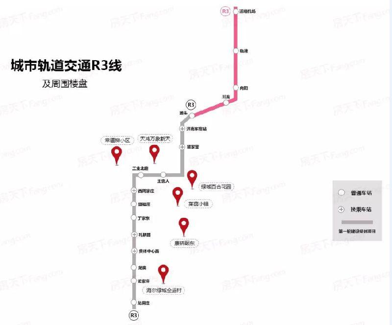 济南地铁r3线规划图