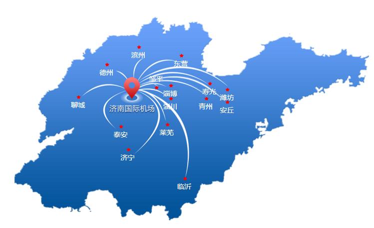 济南机场大巴路线地图
