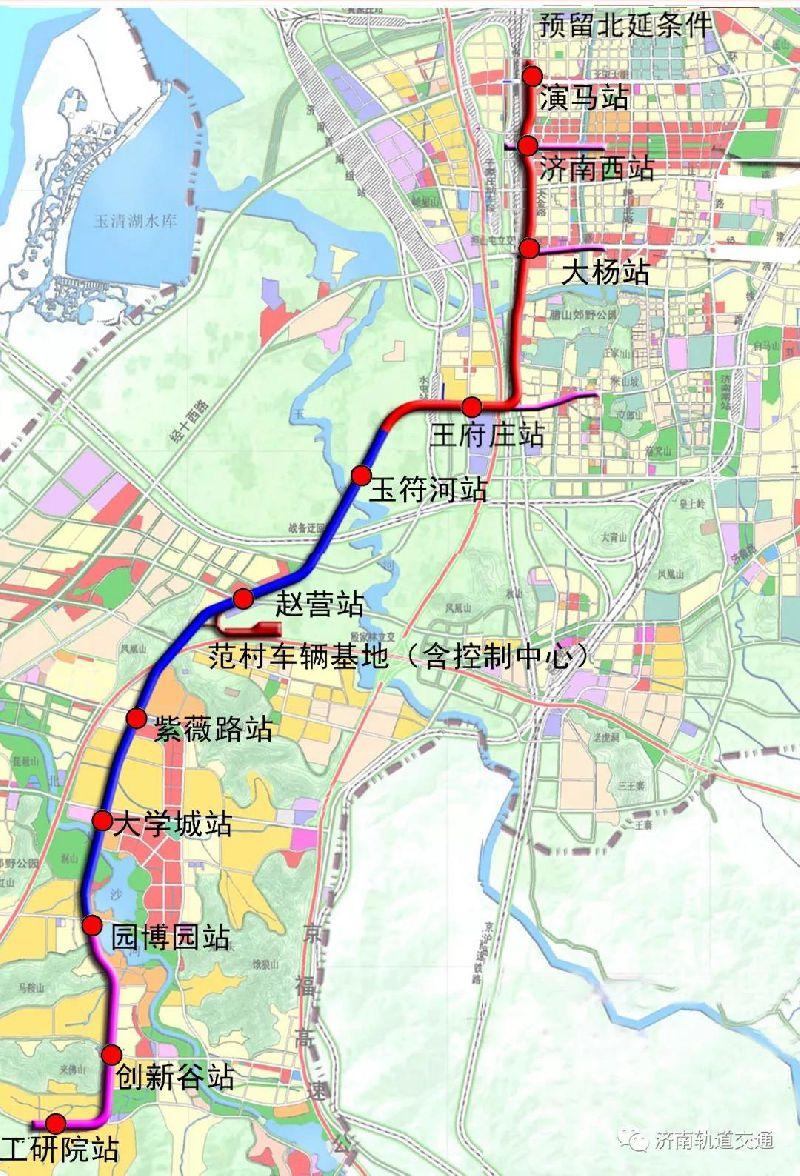 济南地铁R1号线路图