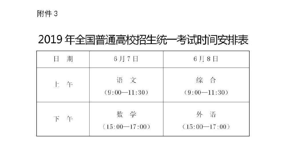 2019济南高考考场安排一览表
