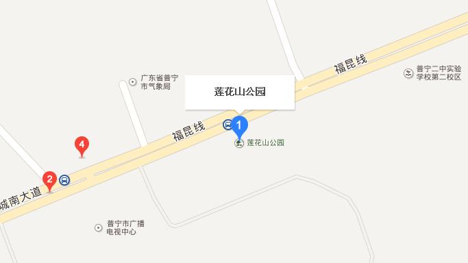 普宁市莲花公园囹�a_揭阳市普宁莲花山公园地图
