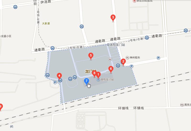 交通概况 > 洛阳龙门站地图     洛阳龙门站地址:河南省洛阳市洛龙区图片