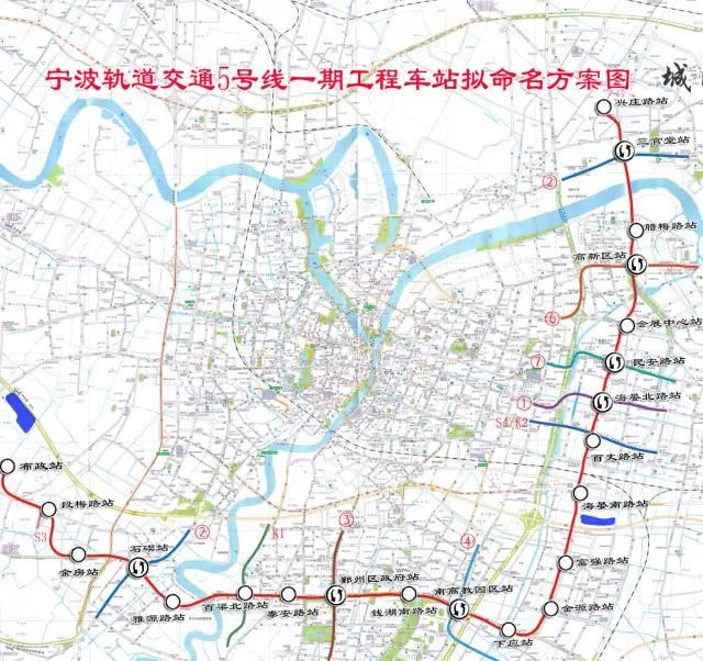宁波地铁规划图 远期规划完整线路图