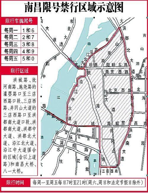 南昌限行限号区域及时间段一览(外地车)-