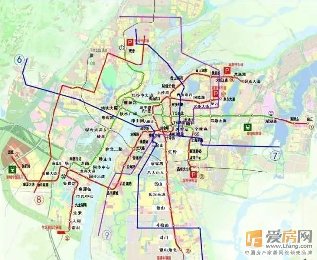 南昌地铁规划线路图及站点一览表 1 9号线图片