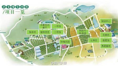 果树蔬菜观光园设计平面图