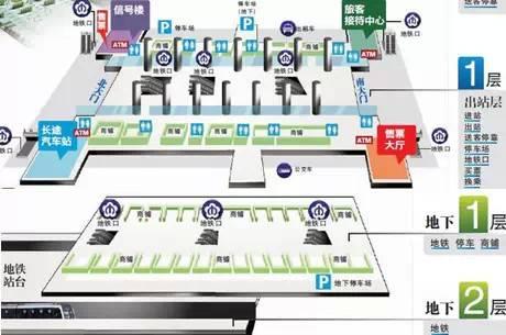 南京南站停车场分布图一览