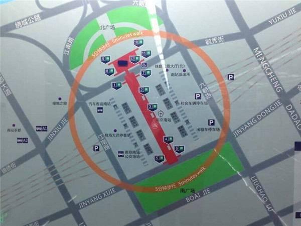 南京地铁3号线南京南站出口及位置一览图片